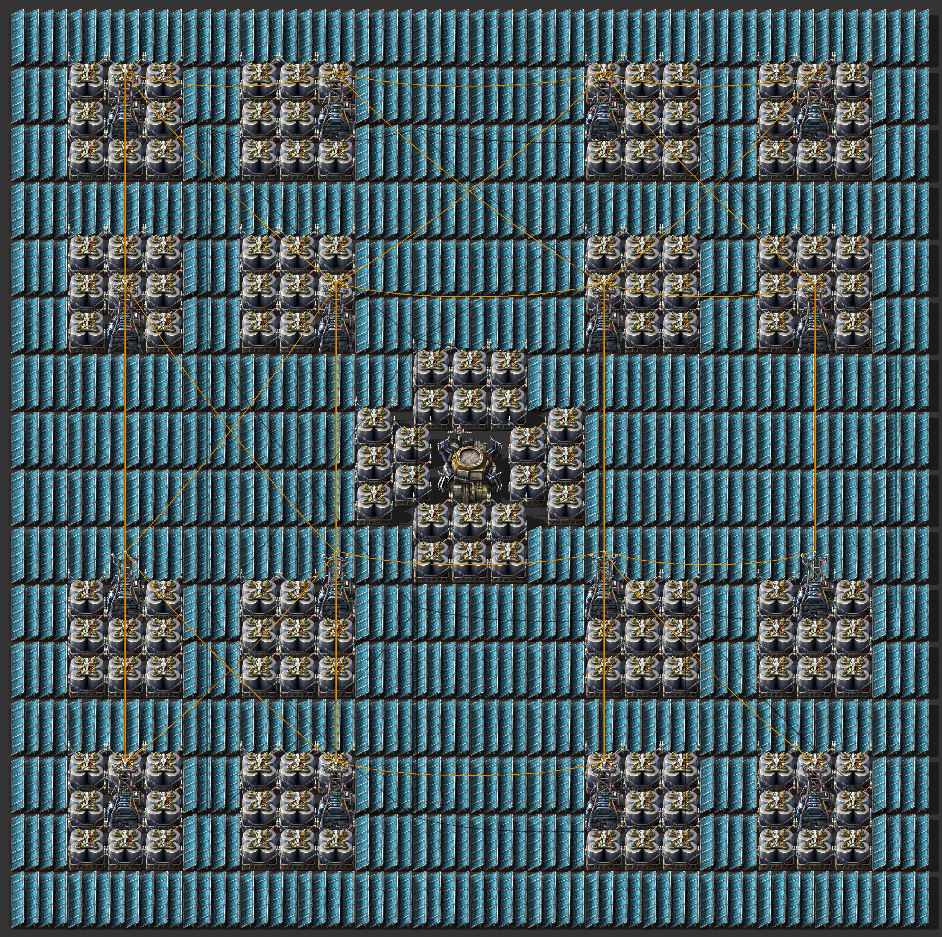 Solar panel and accumulator tiling blueprint