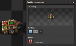 Counter circuit with Decider combinator