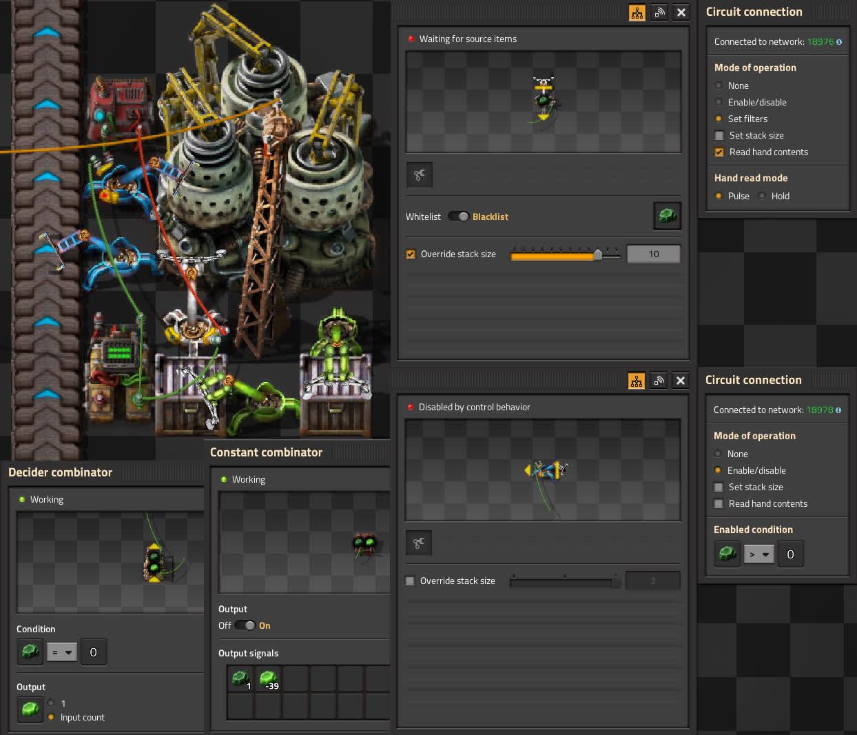 Kovarex enrichment circuit setup